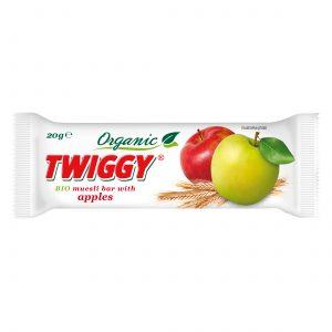 twiggy organic muesli bar with apple