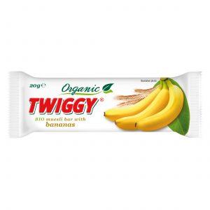 twiggy organic muesli bar with banana